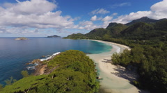 Tropical island aerial bay Stock Footage