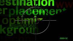 Web optimization radar concept Stock Footage