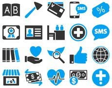 Medical bicolor icons - stock illustration