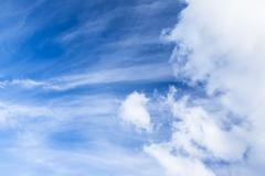 Long cirrus clouds skyscape - stock photo
