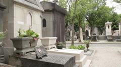 PereLaChaise Cemetery in Paris Stock Footage