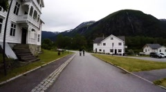 NORWAY-Skjolden -TL-Walking Stock Footage