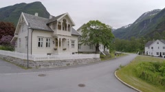NORWAY-Skjolden - small town Stock Footage