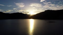 NORWAY-Skjolden - mountains lustrafejorden Stock Footage