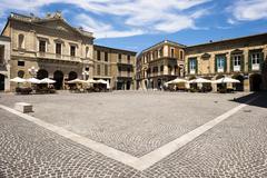 Piazza Duomo Atri Abruzzo Italy Europe - stock photo