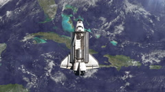 The Space Shuttle above the Earth. Stock Footage