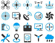 Air drone and quadcopter tool icons Piirros