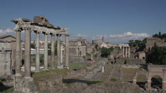 Roman forum, timelapse Stock Footage