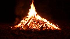 Fire coal burning firewood Stock Footage