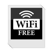 WIFI free icon within a photo on white background. Stock Illustration