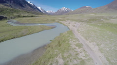 Flight over mountain river in Altay, Russia Stock Footage