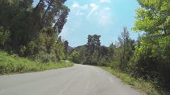 Mountain Road in Greece 04 Stock Footage