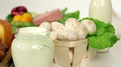 Products For Cooking Healthy Food Stock Footage