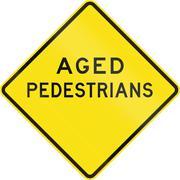 Aged Pedestrians In Australia Stock Illustration