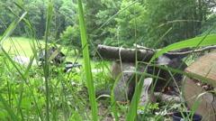 Polonyna, tourism,  fire Stock Footage