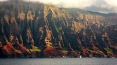 Na Pali Coast, Kauai, HI Stock Footage