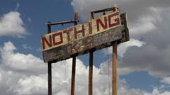 Nothing Arizona 02 - Medium Close-up of Sign Stock Footage