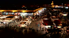 Jamaa the Fna, square of Marrakesh Stock Footage