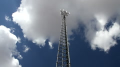 Nothing Arizona 05 - Communications Tower with Clouds Timelapse Stock Footage