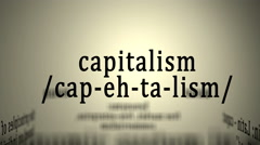 Definition: Capitalism Stock Footage