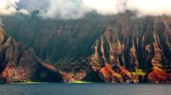 Na Pali Coast, Kauai, HI Part 2 Stock Footage