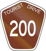 Australian Tourist Drive 200 - stock illustration