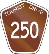 Australian Tourist Drive 250 - stock illustration