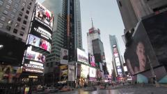 Times Square to the dawn - stock footage