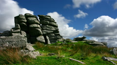 Timelapse, King Tor, Dartmoor National Park Stock Footage