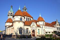 Historic Balneology Building in Sopot, Poland Stock Photos