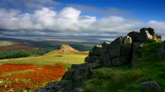 Timelapse, Sharpitor and Leather Tor, Dartmoor National Park Stock Footage