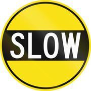 Old Version Of Slow in Australia Stock Illustration