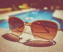 Retro Vintage Pool Sunglasses Stock Photos