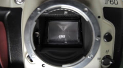 Interior Of SLR Camera mirror Stock Footage