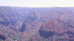 Waimea Canyon from Lookout Stock Footage