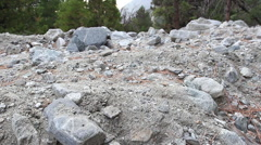 Boulders on Mountain side Stock Footage