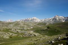 Campo Imperatore Parco Nazionale del Gran Sasso e Monti della Laga Abruzzo - stock photo