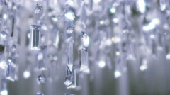 Crystal chandelier. Close up of the crystals. - stock footage