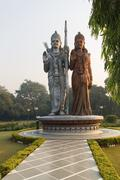 Stock Photo of Sita Ram statue Shiv Murti Mandir Complex at Indira Gandhi International