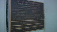 New Orleans bridge dedication sign - Hurricane Katrina 2005-2015 - stock footage