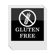 Gluten free icon within a photo on white background. Stock Illustration