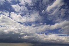 Gathering rain clouds Nimbostratus Bavaria Germany Europe - stock photo