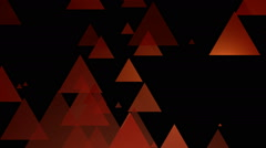 Reddish yellow triangle Stock Footage