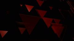 Red trigonal array Stock Footage