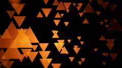 Orange trigonal movement Stock Footage