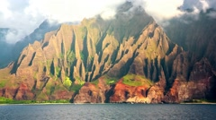 Na Pali Coast, Kauai, HI Part 1 Stock Footage