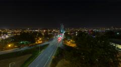 Time Lapse of Traffic Light Trails on Hawthorne Bridge in Portland Oregon - stock footage