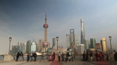 4k Timelapse of Shanghai, China city skyline - stock footage