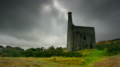 Timelapse, Wheal Betsy tine mine, Dartmoor National Park Stock Footage