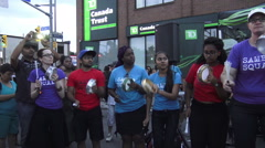 11th Annual Salsa on St. Clair, Toronto 2015 Stock Footage